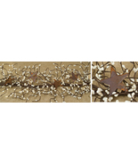 """Pip Berry Garland With Rusty Stars, Ivory, 40"""" Fall Autumn Holiday Decor   - $39.99"""