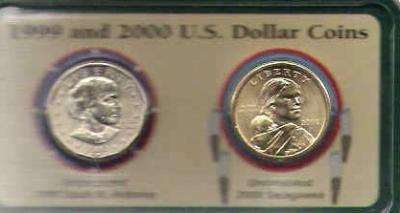 Nice two coin type Set 1999 & 2000 B.U. Dollars