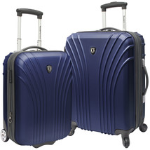 Travelers Choice Cape Verde Navy 2-Piece Carry-on Expandable Spinner Lug... - $89.09