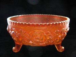 Imperial Carnival OPEN ROSE Footed Rose Bowl - $35.00
