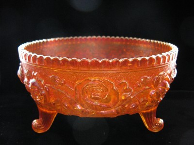 Imperial Carnival OPEN ROSE Footed Rose Bowl
