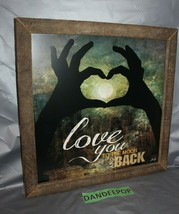 Love You To The Moon And Back Composite Wood Framed Art Sign Marla Rae 20 x 20 - $49.49