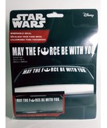 "Star Wars Windshield Decals ""May the Force Be With You"" 3.5"" x 35"" All w... - $9.79"
