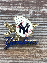 New York YANKEES 2001 Pitcher Throwing Ball Baseball NY Logo Pin - $8.95