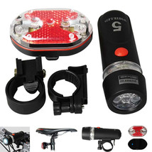 New 5 LED Lamp Bike Bicycle Front Head Light + Rear Safety Flashlight - $5.99