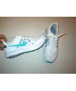 New Womens Nike Running Shoes Training White Aqua Blue 9 Casual Sneakers  - $115.00