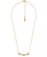 new MICHAEL KORS necklace Mercer Padlock Gold-Plated Sterling Silver cha... - $84.05