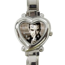 Hot New Robbie Williams Love Heart Italian Charm Watch wristwatch Gift - $8.50