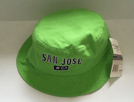 San Jose CA embroidered front  green bucket hat travel souvenir unisex - $12.17