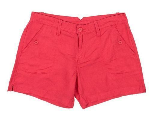 Primary image for Calvin Klein Jeans Women's Linen Shorts Coral Flower Sz 2
