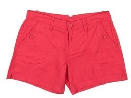 Calvin Klein Jeans Women's Linen Shorts Coral Flower Sz 2 - $14.79