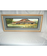 Vintage Original Watercolor Barn Painting Picture Signed Helein R. Hart ... - $173.25