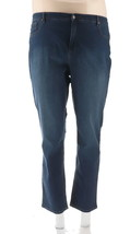 Denim & Co Reg Slim Straight Leg Jeans Antique Denim 20W NEW A296667 - $26.71