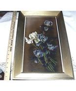 1895 YARDLONG Chromolithograph-Vase Purple Iris-LEROY - $85.00