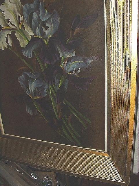 1895 YARDLONG Chromolithograph-Vase Purple Iris-LEROY