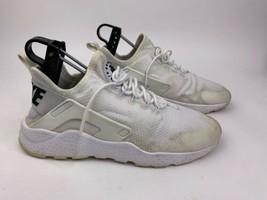 Nike Air Huarache Run Womens Shoes Size 8.5 White Mesh W/ Black 819151-101 - £24.16 GBP