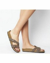 BIRKENSTOCK Yao Slide Sandal Mocha Birko-Flor 40/9 Women Lk Nw! - $62.70