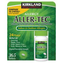Kirkland Signature Aller-Tec, 365 Tablets - $20.73