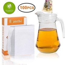 100Pcs Tea Filter Bags Large, Disposable Empty Tea Bag with Drawstring S... - £4.24 GBP