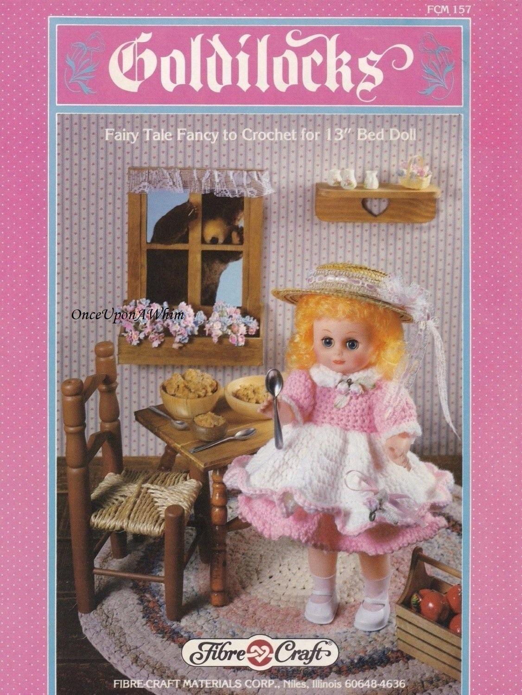 Goldilocks, Fibre Craft Doll Clothes Crochet Pattern Booklet FCM157