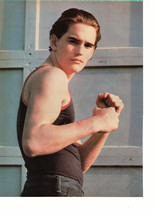 Matt Dillon teen magazine pinup clipping flexing his muscles Tiger Beat Bop