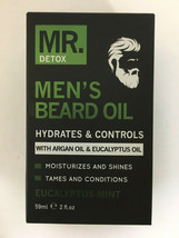 MR. DETOX Men's Beard Oil with Argan Oil & Eucalyptus Oil  - $14.84