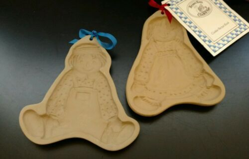 BROWN BAG  RAGGEDY ANN AND ANDY COOKIE MOLDS HILL DESIGN 1985/86 Pair Vintage