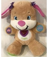 Girl Puppy Dog Fisher Price Plush Interactive Pink Musical Sings Laugh &... - $32.68