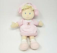 """13 """" Vintage Carter's Bébé Poupée Fille Rose Robe Animal en Peluche Jouet #36299 - $45.69"""