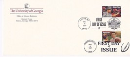 POP WARNER & BEAR BRYANT FDI ON 1 COVER UNIVERSITY OF GEORGIA ENVELOPE 1997 - $3.99