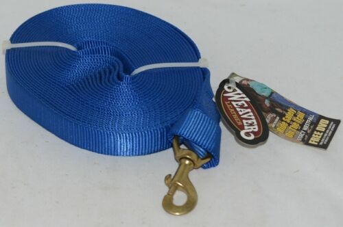 Weaver Leather 357043BL Snap Blue Nylon Lunge Line 30 Foot