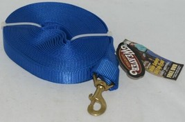 Weaver Leather 357043BL Snap Blue Nylon Lunge Line 30 Foot image 1