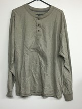Hanes Beefy T, X-Large Tan Long Sleeve Henley T-shirt. New Without Tags - $11.64