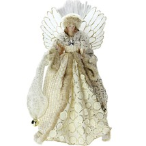 """16"""" Lighted B/O Fiber Optic Angel in Golden Sequined Gown Christmas Tree... - $58.40"""