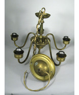 Chandelier Ceiling Light Fixture Brass 5 Arm Bulbs 2 Tier 1 Ceiling Rose... - $157.41