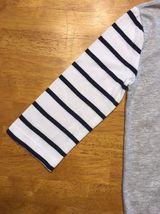 Gap Kids Girl's Gray, Blue & White Striped Pocket Shirt - Size: Medium image 4