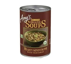 Amy's Soup Vegan Organic Hearty Minestrone Pasta Beans and Veggies 12 - ... - $59.87