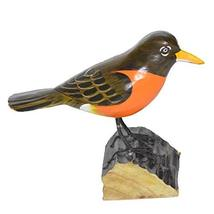Hand Carved Painted Wood Carving Robin Bird Decoy Vintage Style Wood Replica Lif - $24.69