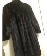 Vintage Gian Carlo Mahogany Mink Fur Coat Sz 6 Tie Sash Full Length Soft Supple - $792.00