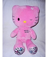 Build a Bear Sanrio Hello Kitty Pink Winking Leopard Print Plush Stuffed... - $15.33