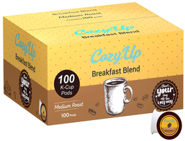Cozyup Breakfast Blend Medium Roast Coffee Pods For Keurig Brewers, 100 Ct. - $39.52