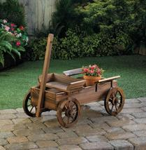 Wooden Old World Wagon Planter - $129.95