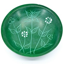 Tabaka Chigware Handmade Kisii Soapstone Green Spring Flower Trinket Bowl Kenya