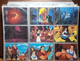DISNEY BEAUTY AND THE BEAST PRO SET COMPLETE MASTER 1992 TRADING CARDS - $7.92