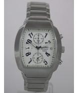 Seiko mens watches chronograph alarm stainless steel rectangle case SNA3... - $186.12