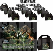 Jurassic World Party Favor Boxes Thank you Decals Stickers Loots 12PC Di... - $24.70