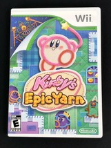 Kirby's Epic Yarn Game Nintendo Wii 2010 Complete Tested Works Play Flaw... - $9.74