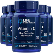 Vitamin C 1,000mg Bio-Quercetin 750mg Equivalent 5X60 tabs Life Extension - $43.51