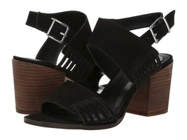 Vince Camuto Karmelo Suede Block Heel Sandals, Multiple Sizes Black VC-KARMELO - $99.95
