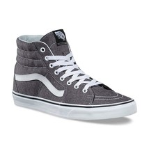 Vans SK8 Hi Micro Herringbone Black/True White Men's Skate Shoes - £48.10 GBP